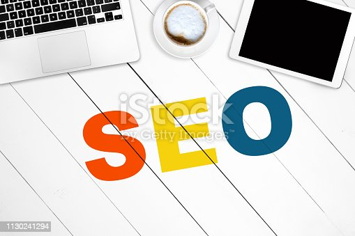 1045434476 istock photo SEO. Search engine optimization. Internet positioning. Webmaster tool. 1130241294