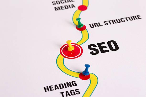 seo-optimización del motor de búsqueda - website design fotografías e imágenes de stock