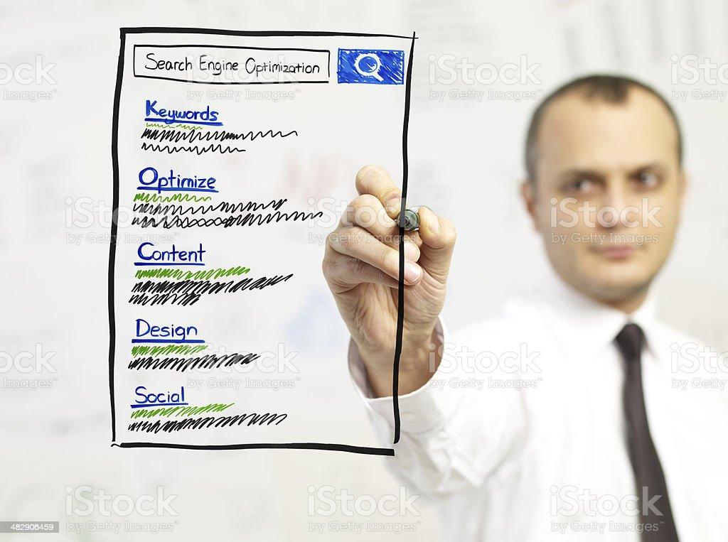 Search Engine Optimization royalty-free stock photo