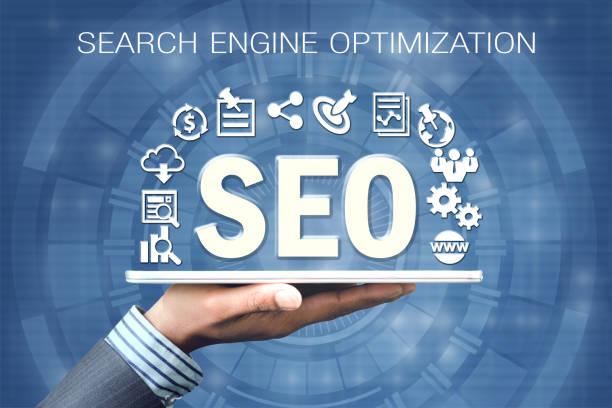 SEO - Search Engine Optimization stock photo