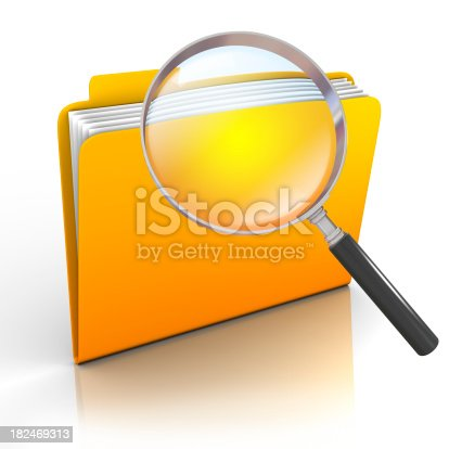 istock Search folder - isolated on white with clipping path 182469313