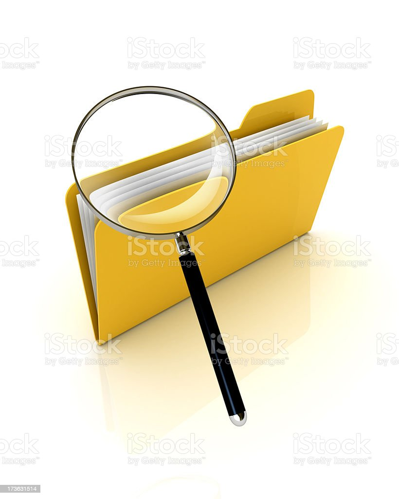 Search folder royalty-free stock photo