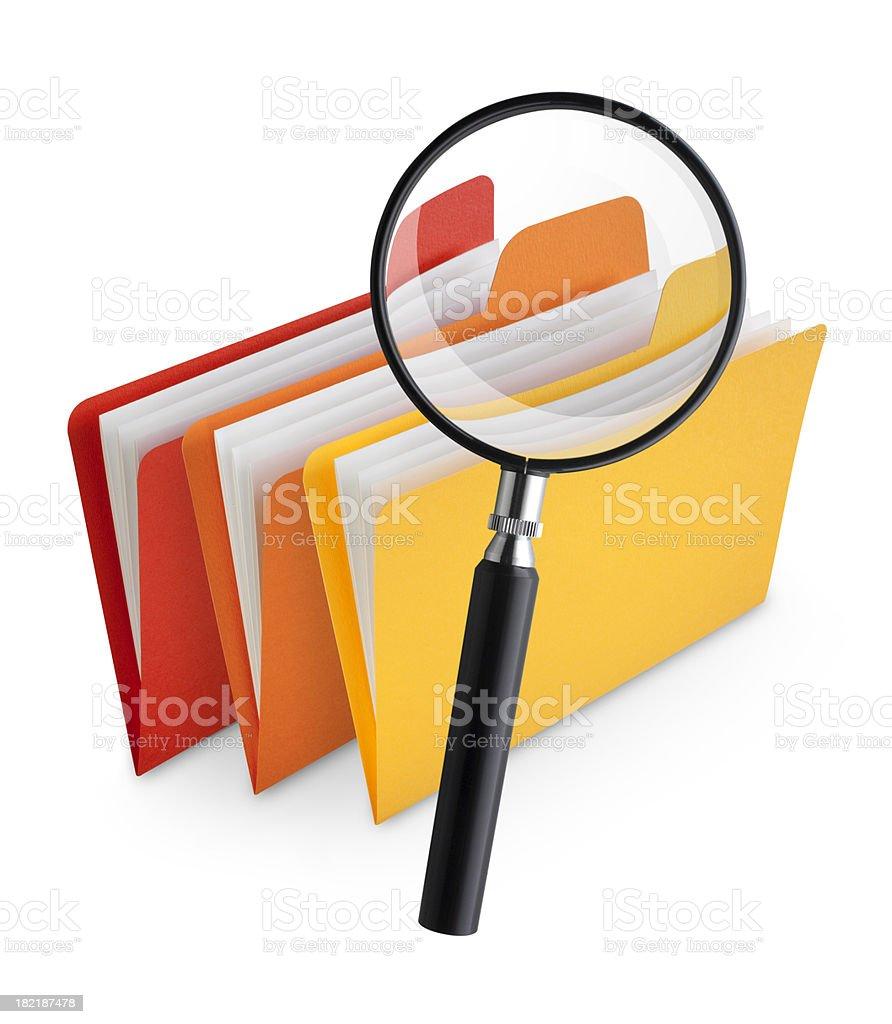 Search folders royalty-free stock photo