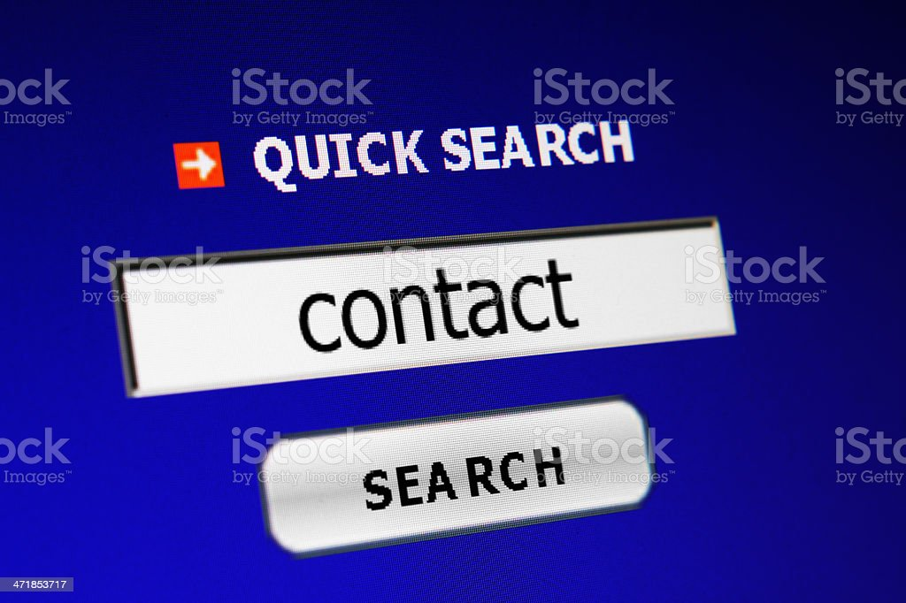 Search for contact royalty-free stock photo