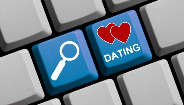 Suchen Sie nach online - Dating, Computer-Tastatur – Foto