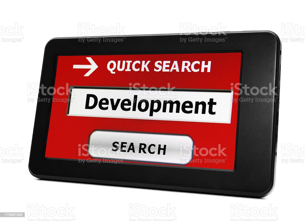 Search for development royalty-free stock photo