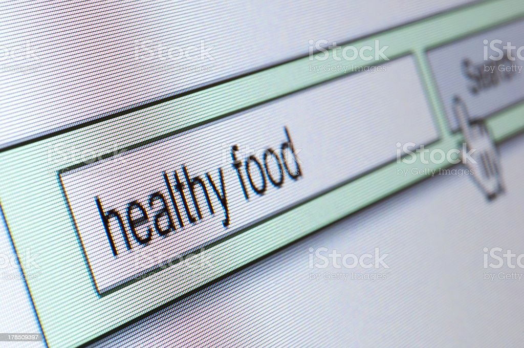 search for healthy food macro royalty-free stock photo