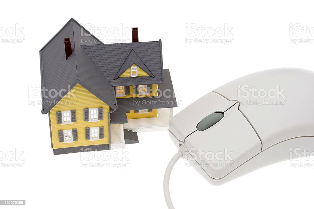 Search for homes online royalty-free stock photo