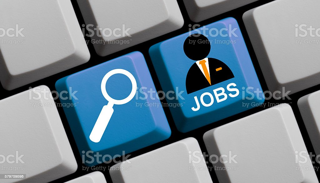 Search for jobs online stock photo