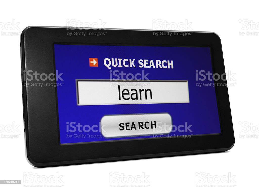 Search for learn royalty-free stock photo
