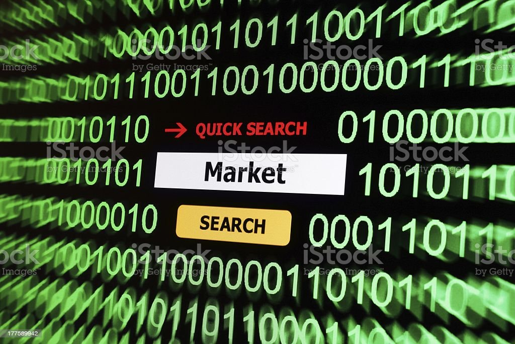 Search for market royalty-free stock photo