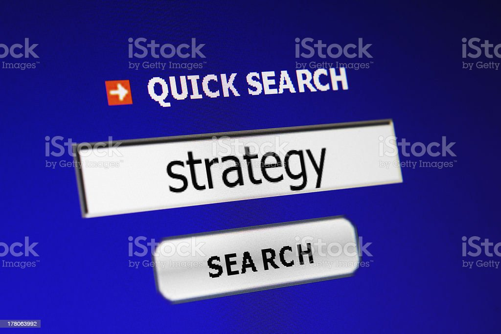 Search for strategy stock photo