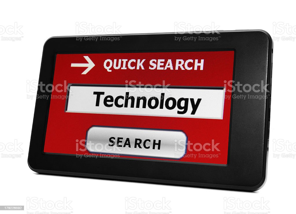 Search for technology royalty-free stock photo