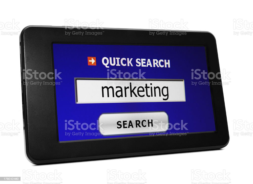 Search for web marketing royalty-free stock photo