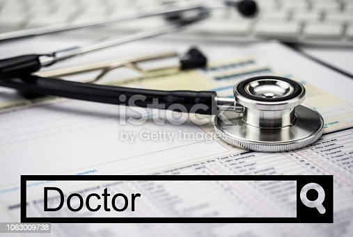 688358418istockphoto Search in the doctor's network, conceptual image 1063009738