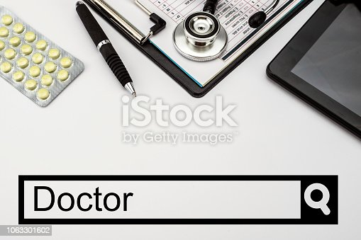 688358418istockphoto Search in the doctor's network, conceptual image 1063301602