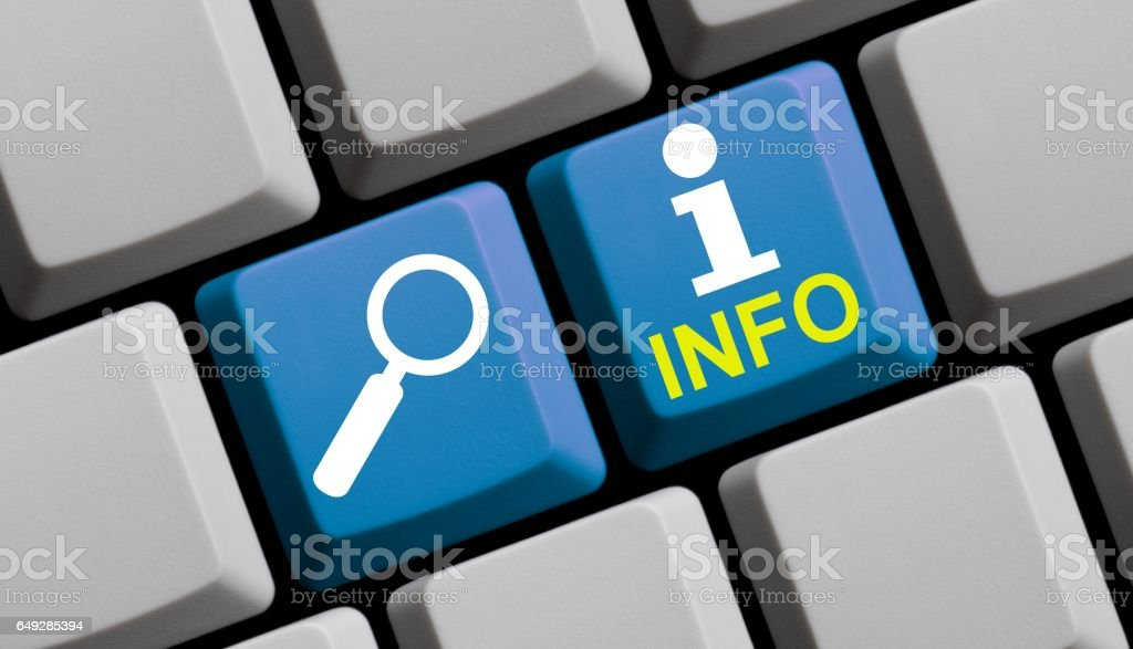 Search Info online - Computer Keyboard stock photo
