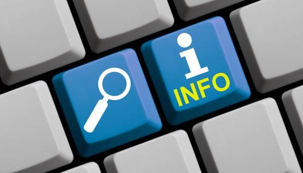 Suchen Sie Info online - Computer-Tastatur – Foto