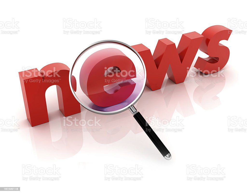 Search news stock photo