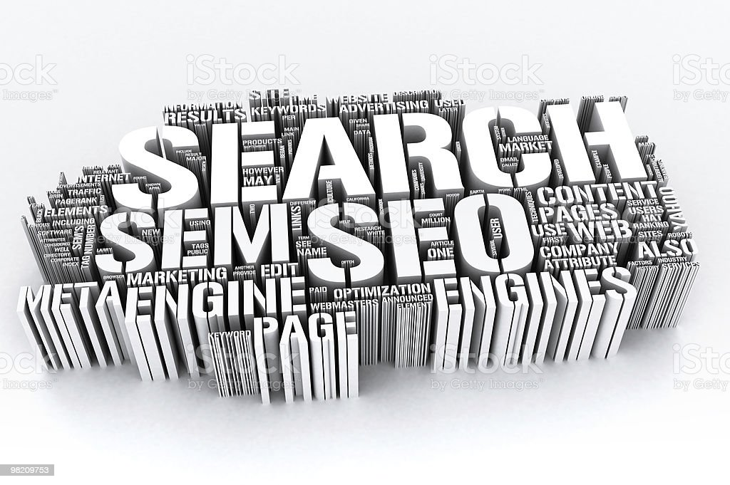 Search on Internet - SEO 3d royalty-free stock photo