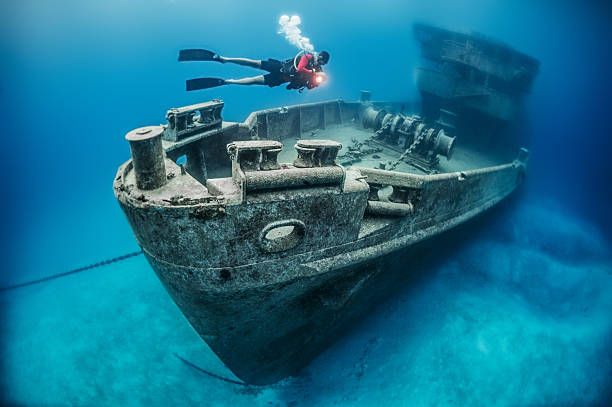 search quest - wreck diving stock pictures, royalty-free photos & images