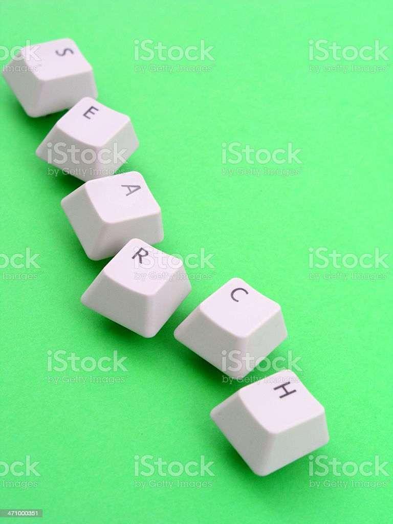 'Search' spelled out with keyboard keys royalty-free stock photo