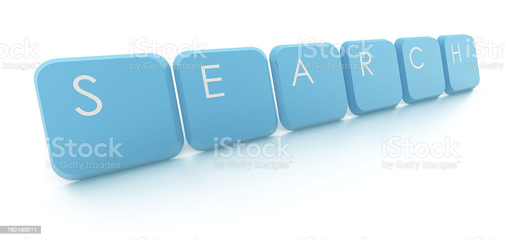Search - text with keys stock photo