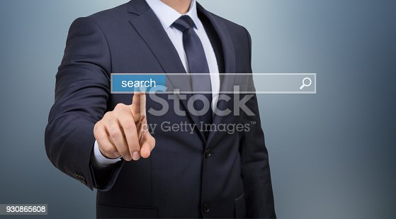 492960182 istock photo Search Touch Screen Network 930865608