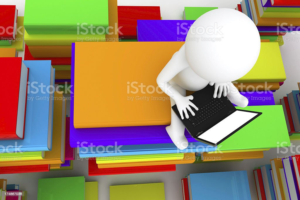 search with laptop royalty-free stock photo