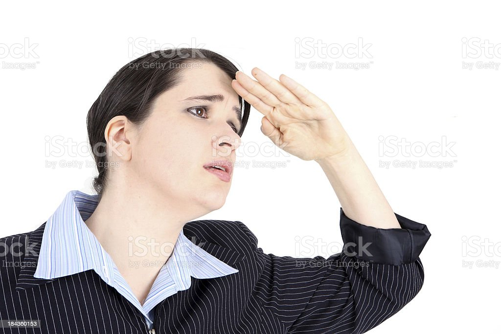 Searching Business woman stock photo