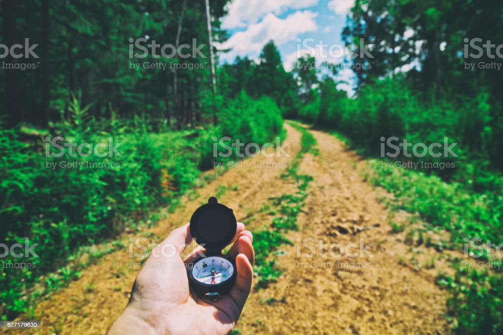 Searching direction stock photo