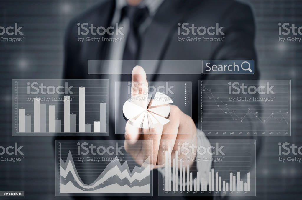 Searching financial data royalty-free stock photo