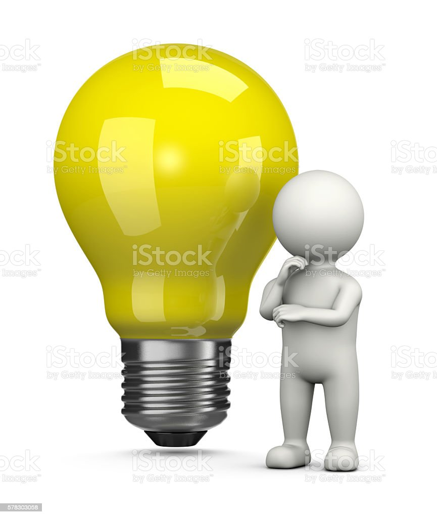 Searching for an Idea stock photo