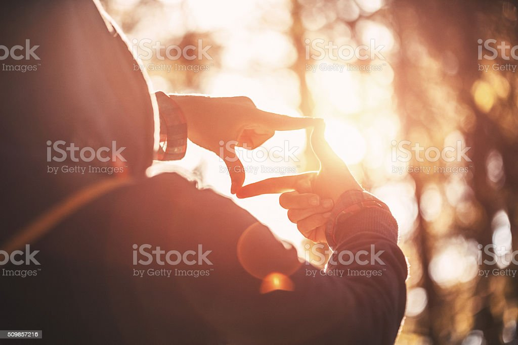 Searching for best composition stock photo