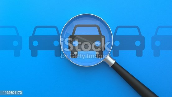 Searching for Cars, Choose Your Car, Looking For Car Selling Icon, Magnifying Glass Search Car