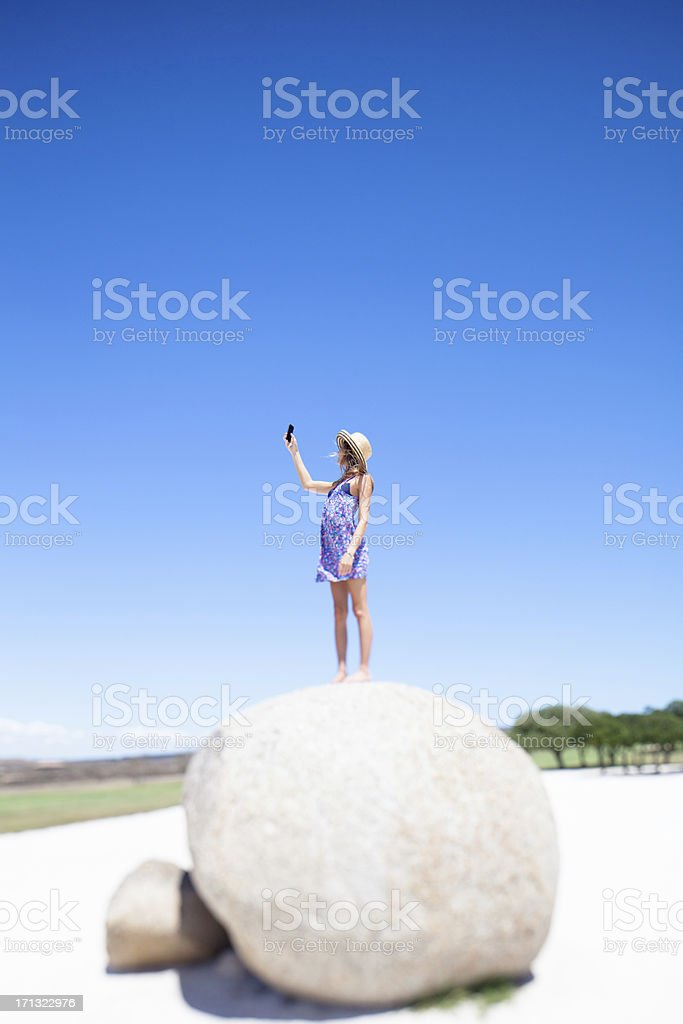Searching for cell phone signal royalty-free stock photo
