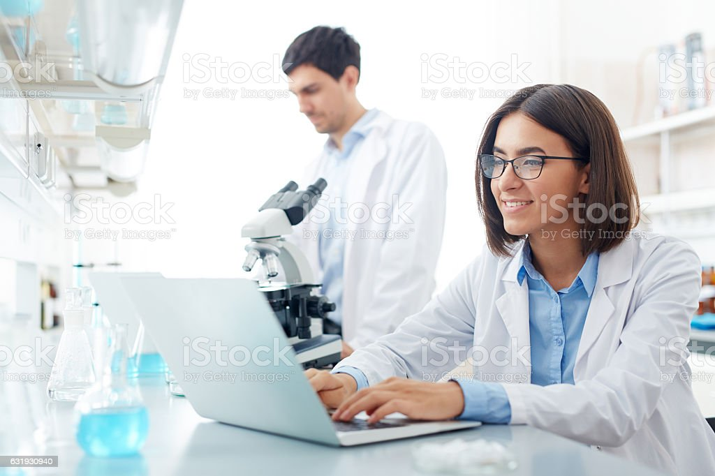 Searching for data stock photo