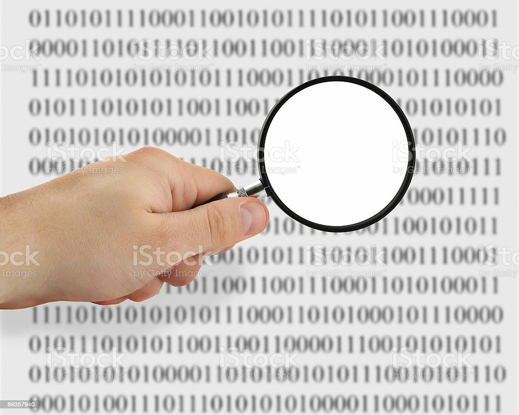 searching for data royalty-free stock photo