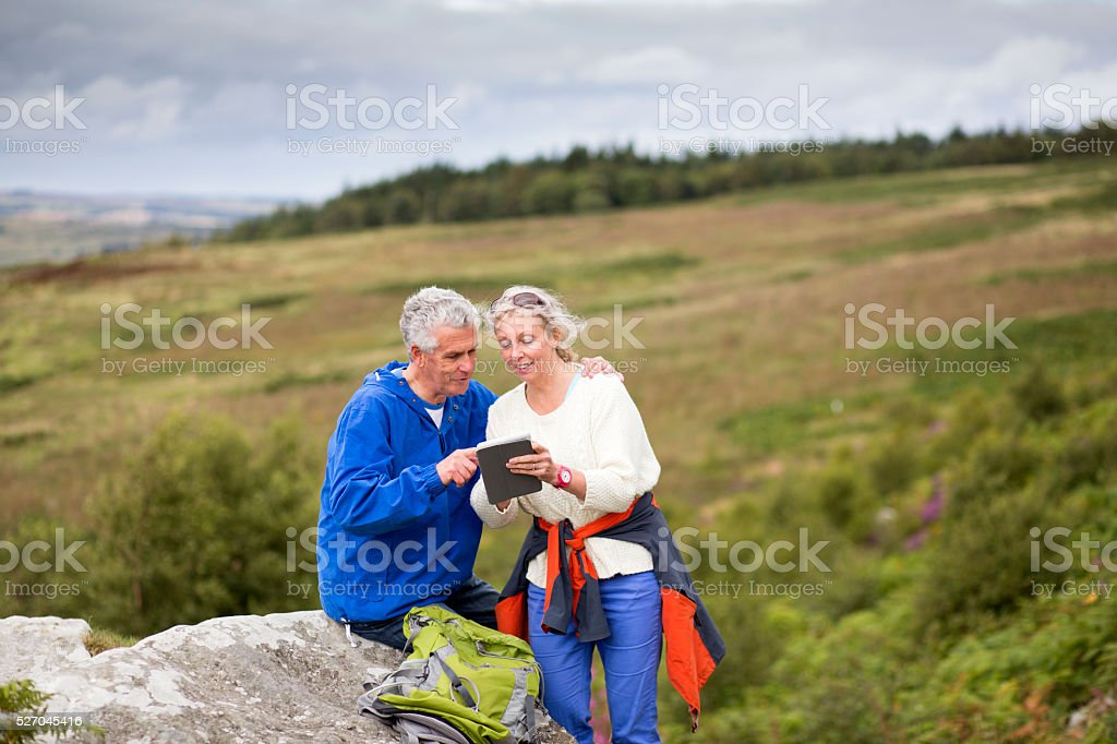 Searching for Directions stock photo