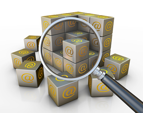 Searching for E-mail building growth at symbol cubes