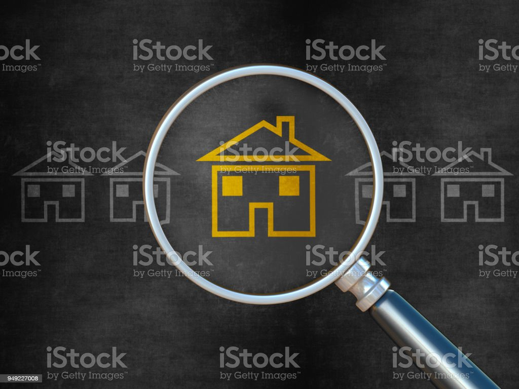 Searching for Home stock photo