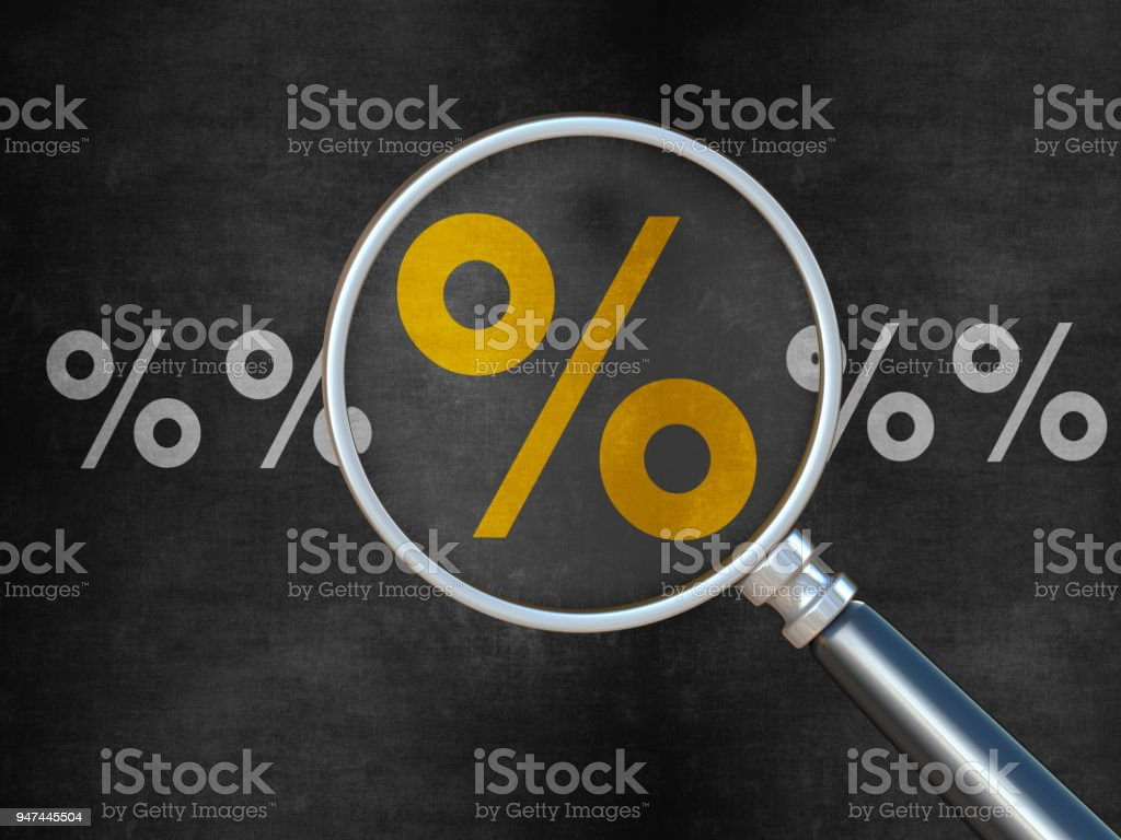 Searching for Interest Rate stock photo