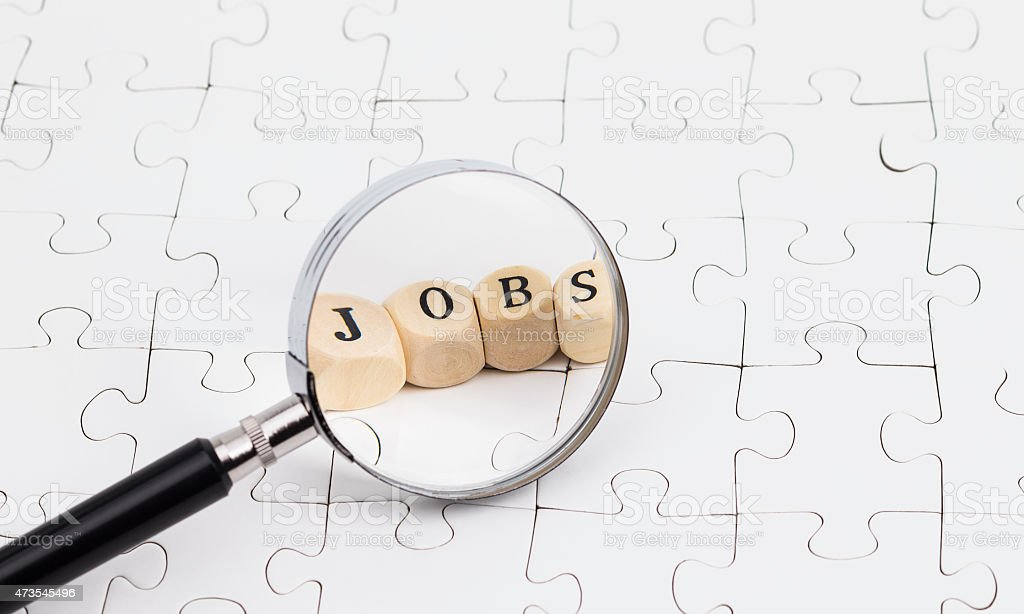 Searching for jobs stock photo
