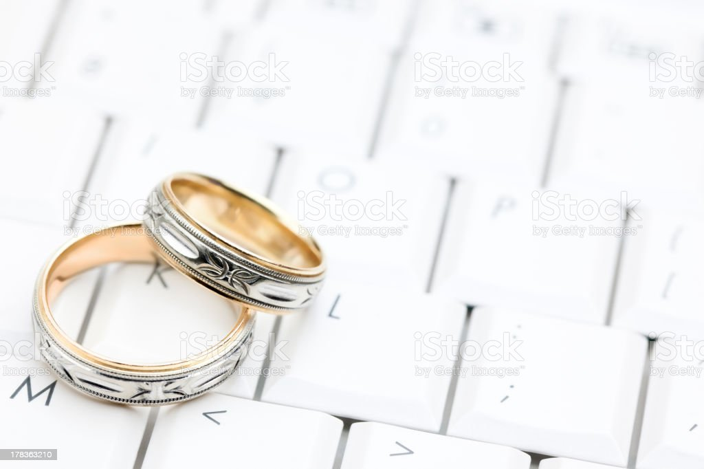 Searching for Love Online stock photo