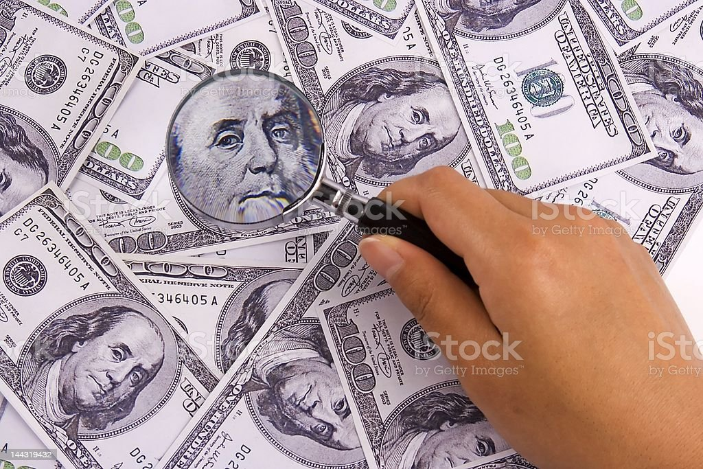 Searching for Money royalty-free stock photo