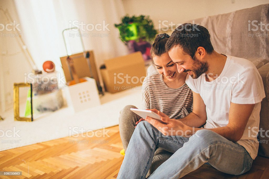 Searching for new interior ideas royalty-free stock photo