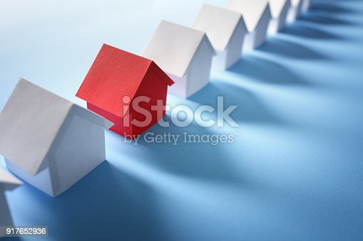 istock Searching for real estate, house or new home 917652936