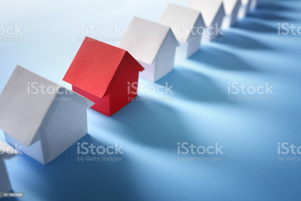 Searching for real estate, house or new home stock photo