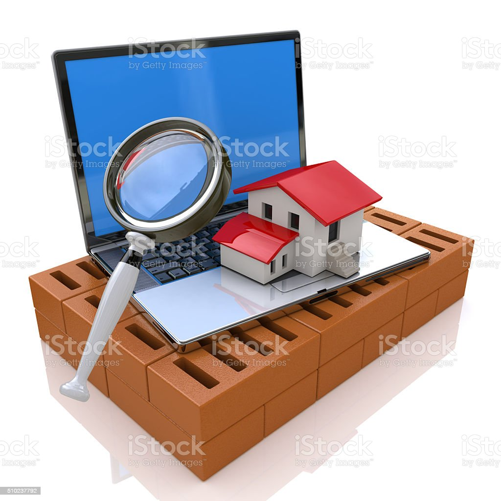 Searching for Real Estate Online stock photo