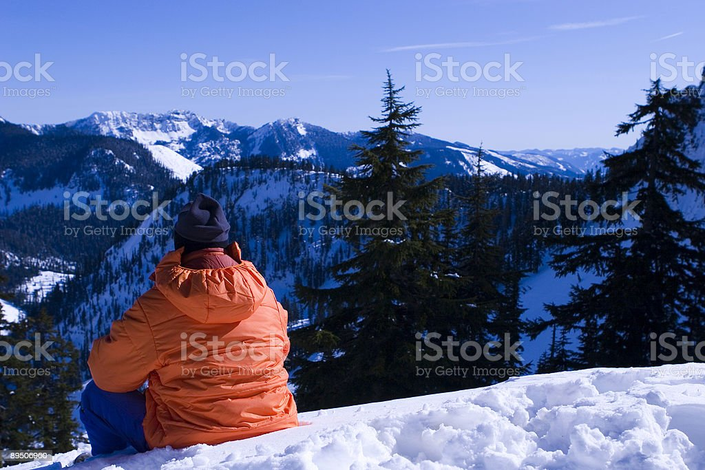 searching for truth in the mountains royalty-free stock photo